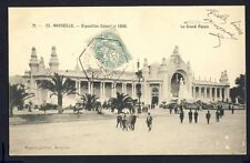 cpa Cachet EXPO COLONIALE 1906 MARSEILLE Le Grand Palais