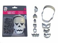 Skull Cookie Cutters Decorating Set 10 Pc. Head Face Mini Shape Cookie Cutters
