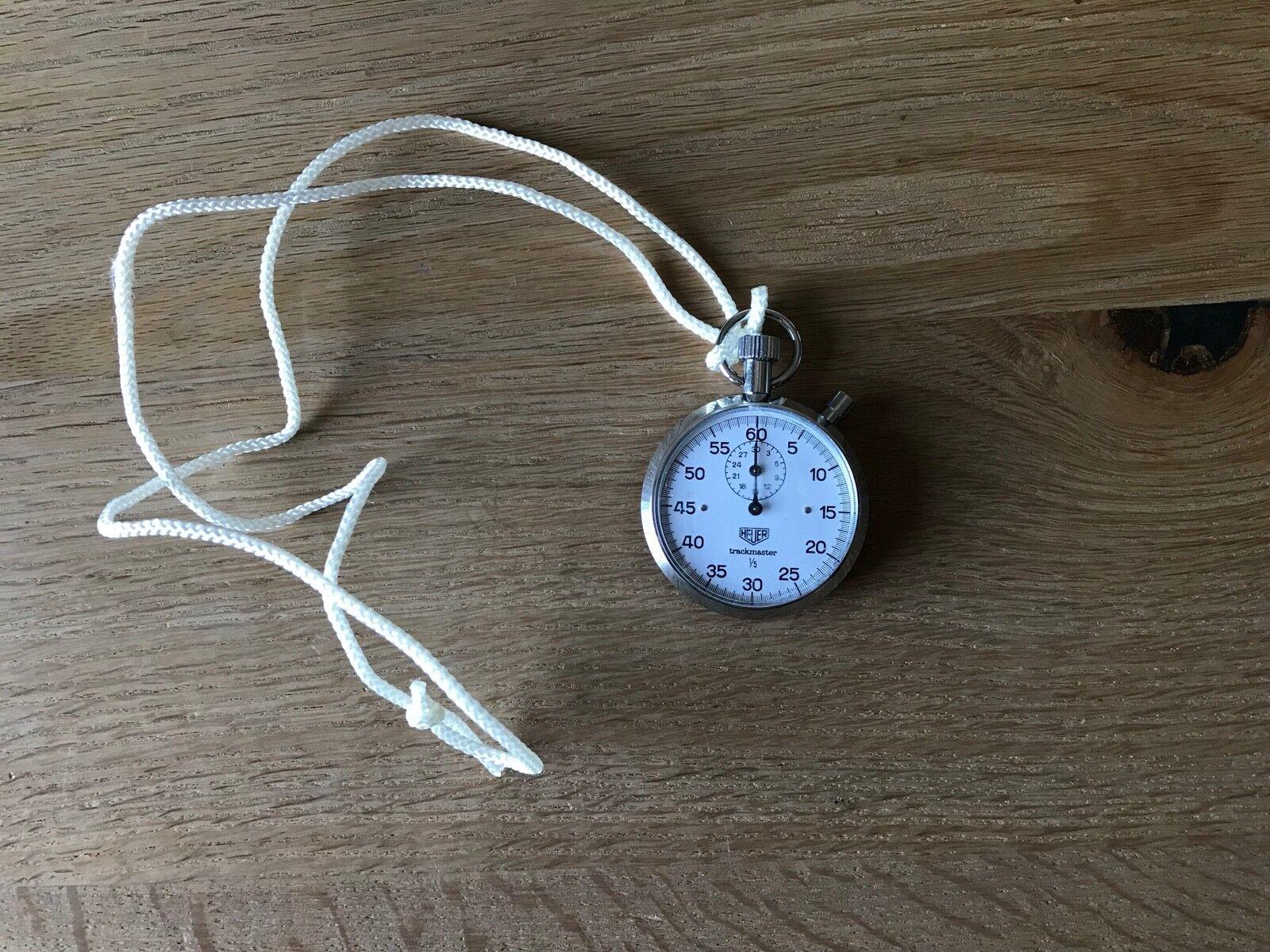 Reloj Cronógrafo HEUER TRACKMASTER Stopwatch - Swiss Watch - Steel - Vintage