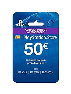50-EUR-PlayStation-PSN-Tarjeta-Prepago-50-50-Euro-Sony-PS4-PS3-PS-Vita-ES