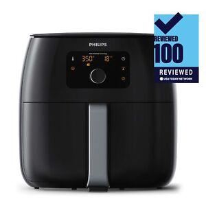 Details zu New Philips Avance XXL Digital Twin TurboStar Airfryer BlackSilver HD965096
