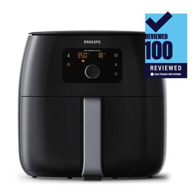 New Philips Premium Digital Twin TurboStar Airfryer XXL, Black - HD9650/96