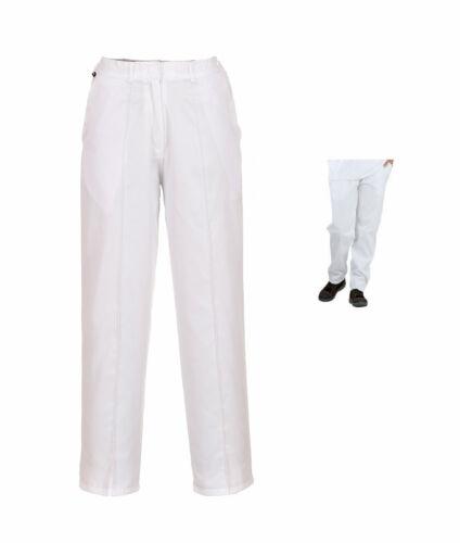 Pantalon femme schwesternhose pfegebekleidung Bergschuhe pantalon 32-58 blanc lw97