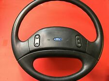 1992-1997 FORD F250 F350 STEERING WHEEL NON AIR BAG STYLE CRUISE CONTROL OEM!