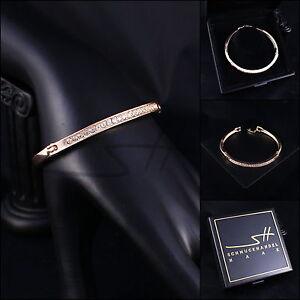 Armreif-Armspange-Armband-Edler-Kreis-Rosegold-pl-Swarovski-Elements-Etui