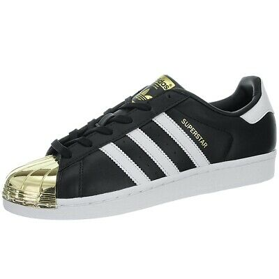 Adidas Superstar Metal Toe W black white gold Women's low-top sneakers leather | eBay