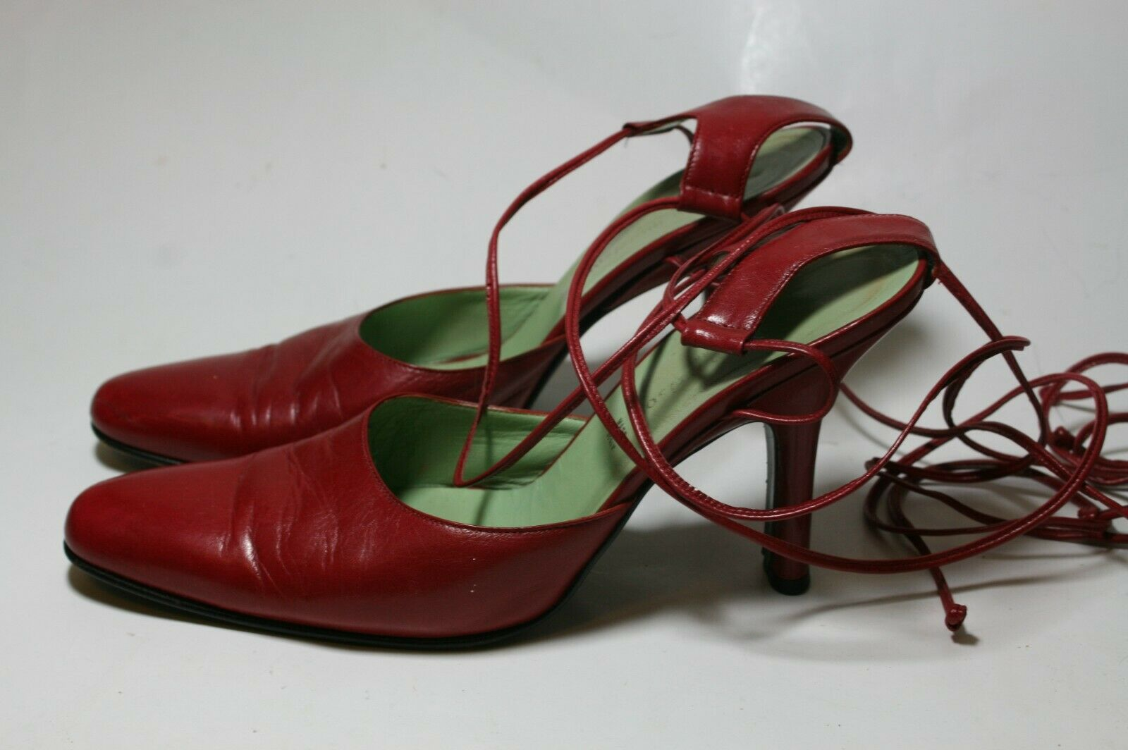 SIGERSON MORRISON SHOES RED LEATHER ANKLE WRAP PU… - image 2