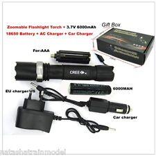 TORCIA CREE XR-E Q5 LED Kit carica Zoom 2000 Lumen e batteria 18650
