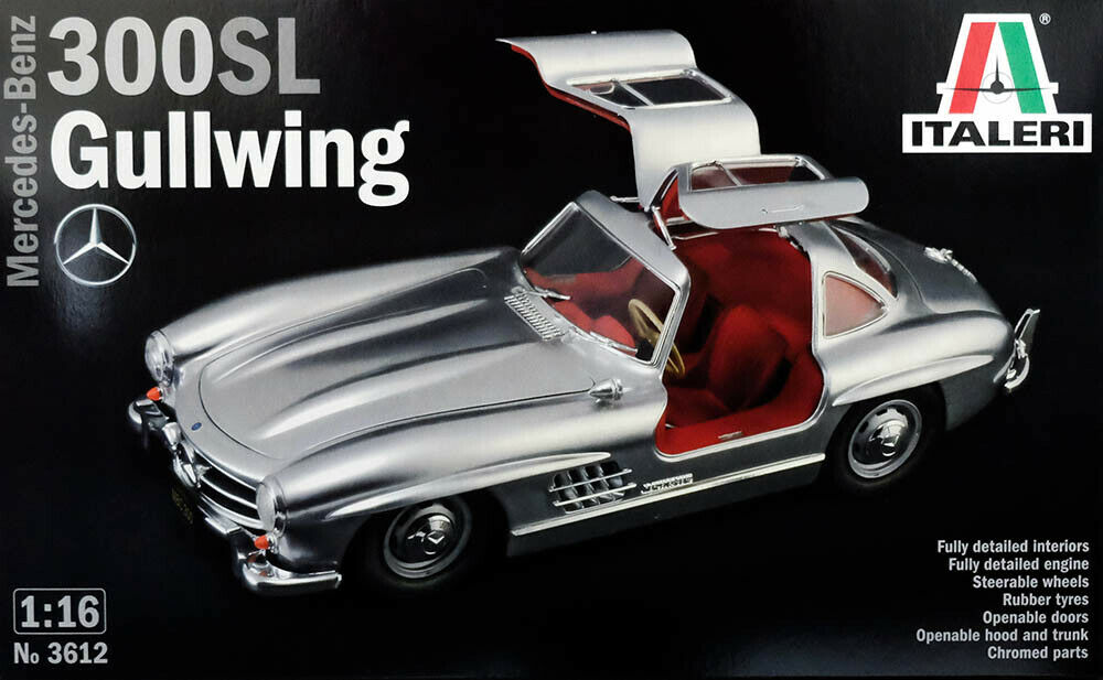 Mercedes - Benz 300Sl Gullwing W 198 1 16 Modelo Kit Construcción Italeri 3612