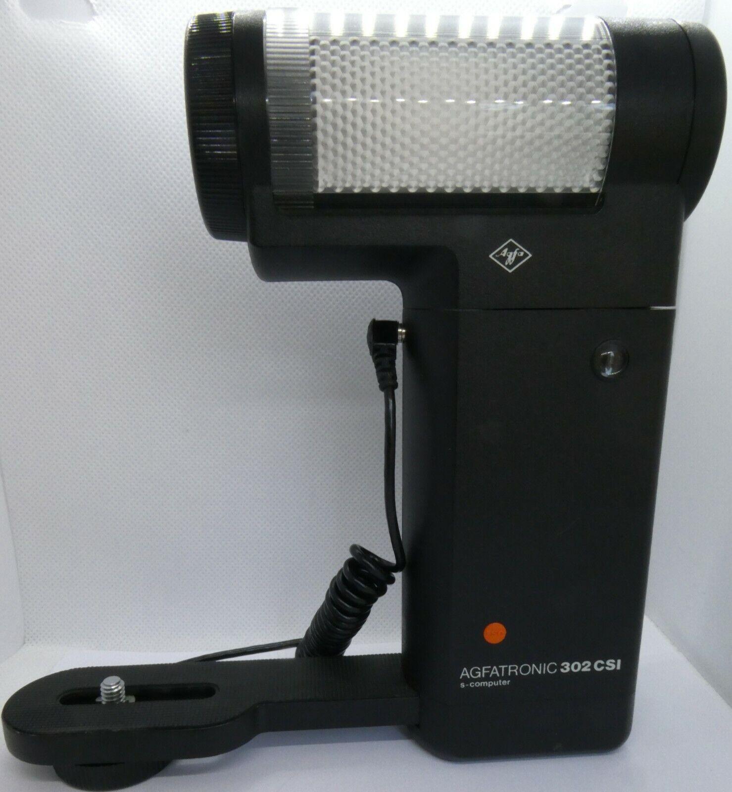Vintage Agfatronic 302CSI s-computer Flash Gun with Camera Bracket