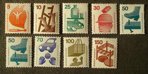 """1971 federale: lot con 9 RULLI marchi """"prevenzione degli infortuni"""", ex MN 694-703 - post freschi"""