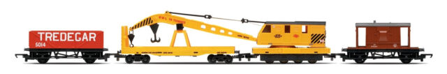 Hornby R6365 Railroad Breakdown Train - 20 Ton Brake Van Crane LWB Open 00