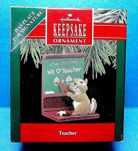 "Hallmark /""Teacher /"" Ornament Dated 1990"