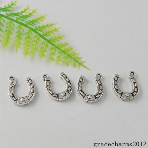 38x vintage alliage d/'argent Lucky Horseshoe Charms Pendentifs Crafts Findings 50807