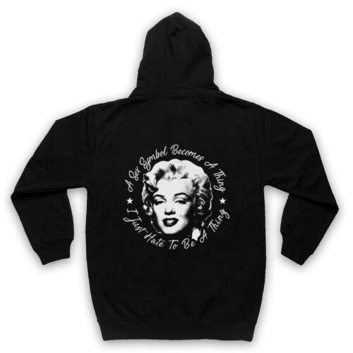 Marilyn Monroe Sex Symbol Rétro Officieux je déteste être Adultes /& Enfants Sweat à capuche