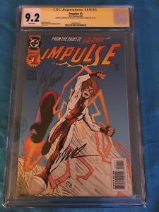 Impulse-1-DC-CGC-SS-9-2-Signed-by-Mark-Waid-Humberto-Ramos