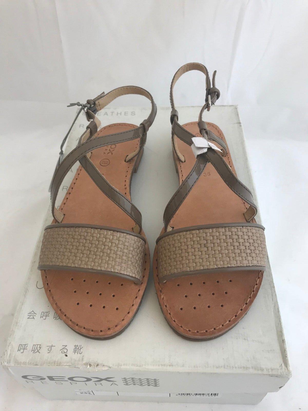 Geox D Jolanda 7 Womens Toe Ring Sandal Taupe Size 5US 35EU