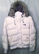 The North Face Gotham 550 Goose Down Full Fur Hood Puffer Jacket White Size Med
