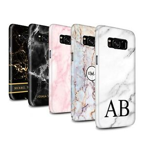 low priced 0ee18 c1bac Details about Personalised Marble Gloss Case for Samsung Galaxy  S8/G950/Initial Custom Cover