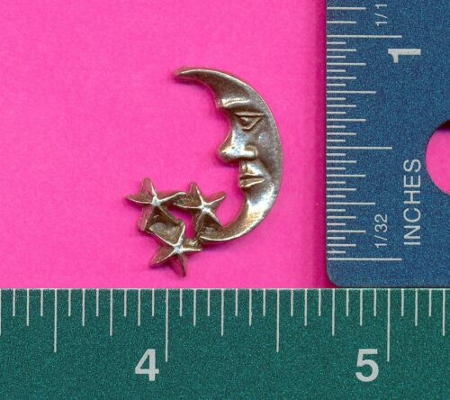 12 wholesale lead free pewter moon star flats AA177