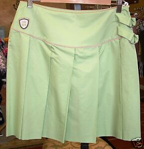 f78c6ead39 Image is loading ESCADA-LIGHT-GREEN-PLEATED-SHORT-SKIRT-38-ADORABLE