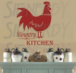 Details about Country Kitchen WALL VINYL STICKER DECAL Chicken Rooster  Color & Size Choice