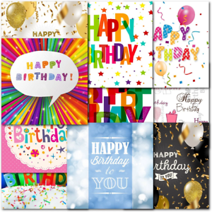 Doodlecards Pack of 10 Square Contempory Mixed Birthday Cards