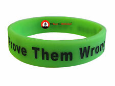 PROVE THEM WRONG Wristband Motivational Inspirational Ionic Negative Ions Sports