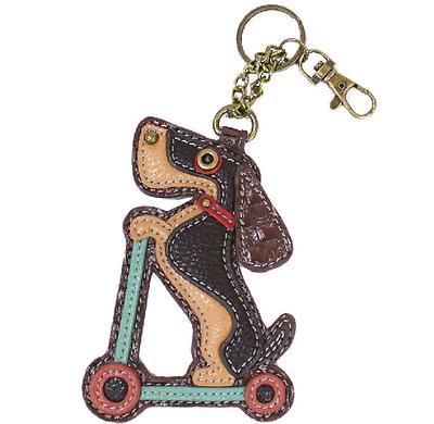 Chala Charming Key Chain Purse Bag Fob Charm Cat or Dog Paw Print