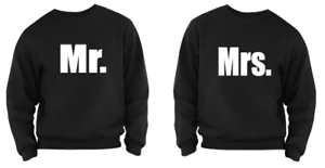 Couples Set Wedding Day Mr And Honeymoon Pair Sweater Mrs Married Valentine's qCOxHB