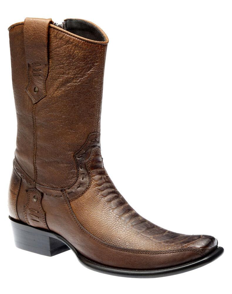 1J05PA Western stivali Ostrich Leg made by Cuadra stivali