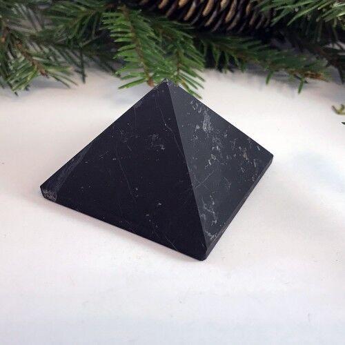 Unpolished shungite pyramid 80x80mm 3,15 inches