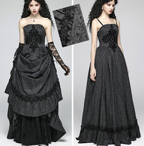 Robe bal marié jacquard gothique victorien