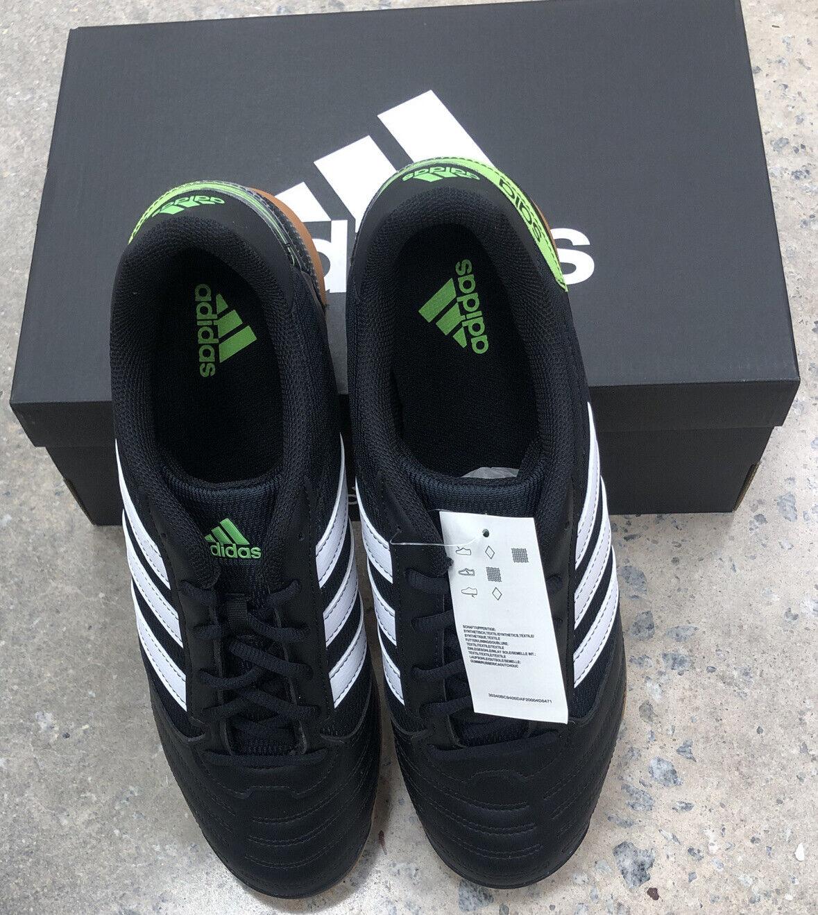 adidas Super Sala Core Black White Solar Green Fv5456 3 Stripes ...