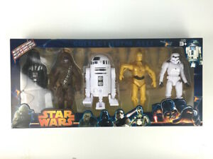 Star-Wars-15CM-Figures-Darth-Vader-Chewbecca-R2-D2-C3PO-Storm-Trooper-Set-of-5