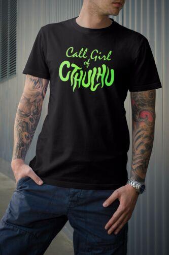 Call of Cthulhu T-shirt Call Girl of Cthulhu Design