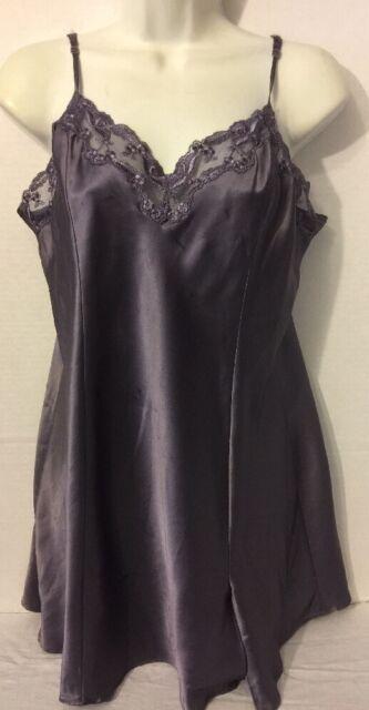 Women's Victoria's Secret Purple Silky Night Dress  - Size Large