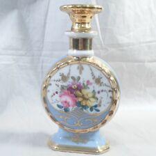 Old Paris Porcelain Perfume Bottle Paris Decorators France gold flowers blue
