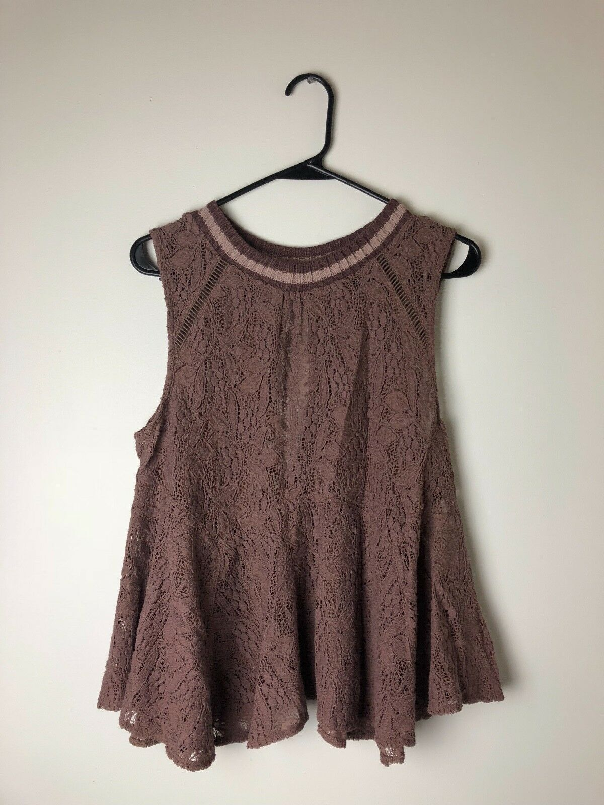 Free People lila Lace Tank Größe Small Great Condition NWT