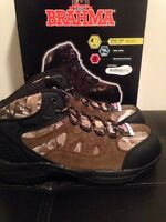 Brahma Men's Buck Realtree Work Boot Camo Steel Toe Wide Width Oil Resistant