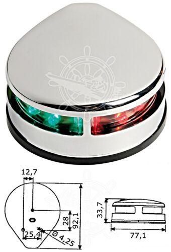 Osculati Zweifarbiges Navigationslicht VA-Stahl poliert