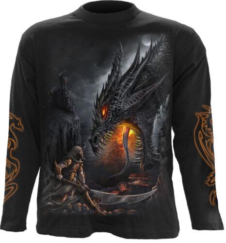 Spiral Direct DRAGON SLAYER Long Sleeve T-shirt//Biker//Tattoo//Skull//Wild//Tribal