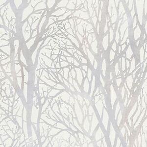 Arbre-Branches-Papier-Peint-Blanc-et-Argente-as-creation-300941-Foret