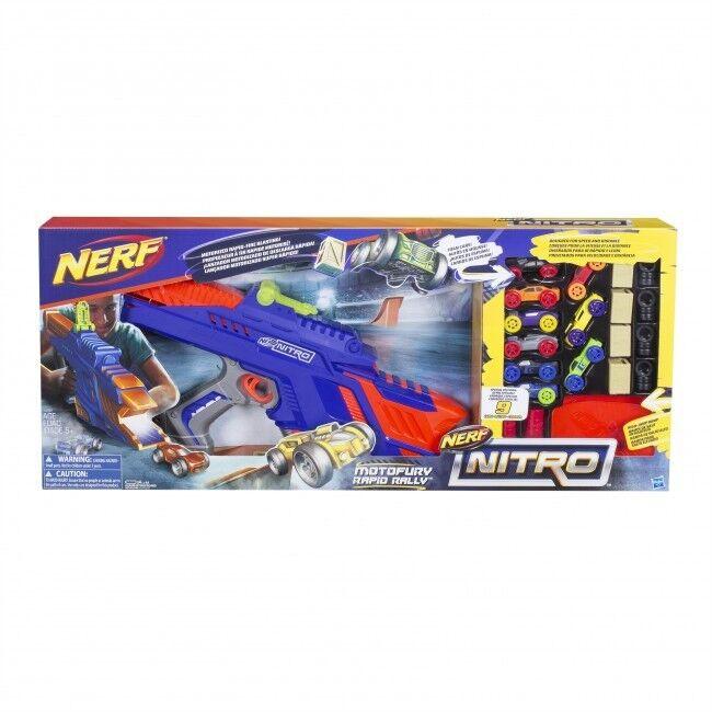 Nerf Nitro moto Fury rapide Rallye Playset comprend 9 voitures   Brand New