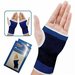 Pain-Relief-Blue-Elasticated-Hand-Support-Strap-Wrist-Brace-Fits-left-and-right