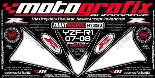 Yamaha YZF R1 07 08 Motografix Front Number Board Motografix 3D Gel Protector