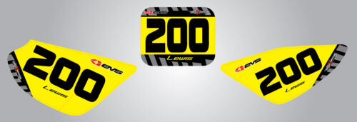 2012 Factor style stickers Custom Number Plate graphics for Honda CRF 50-2004