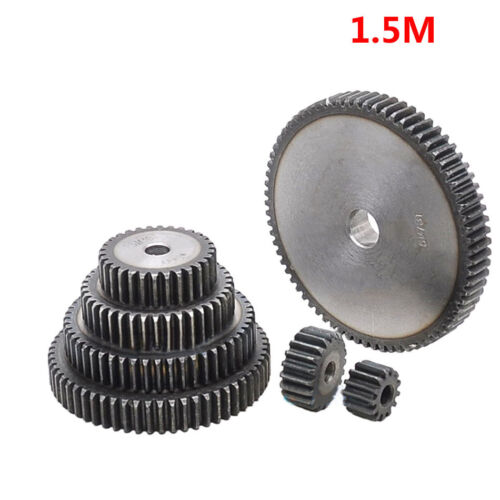 1.5Mod 21T 45# Steel Motor Spur Pinion Gear Outer Dia 34.5mm Thickness 15mm Qty1