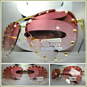 040a141be0fd Image is loading Oversized-Vintage-Retro-Designer-Style-SUN-GLASSES-Gold-