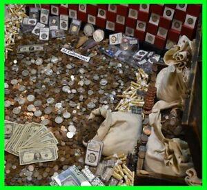RARE-US-COINS-ESTATE-SALE-GOLD-999-SILVER-BULLION-CASH-MONEY-SILVER-MIXED-LOT